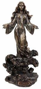 ORISHA-YEMAYA-OCEAN-GODDESS-Yoruba-on-Wave-African-Statue-Sculpture-Bronze-Color