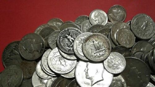 1 Standard Ounce 90/% Silver Junk Coins 1 Half Dollar Included