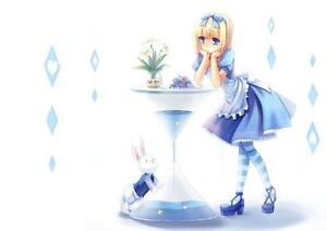ALICE IN WONDERLAND ANIME POSTER Art Print Photo A3 A4