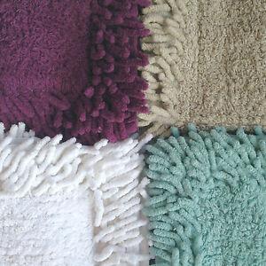 Square-Shower-Mat-Cream-Beige-Pure-Cotton-Small-Bath-Bathroom-60-x-60
