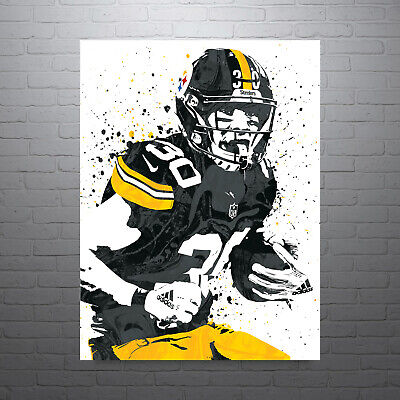 James Shipping Conner Steelers Poster Free Ebay Us Pittsburgh