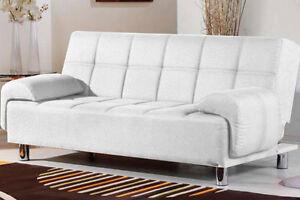 Divani Bianchi Ecopelle : Divano letto posti reclinabile salotto ecopelle bianco sofa