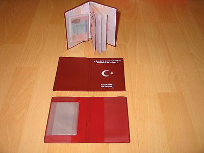 15 Stück Passhülle-türkische Reissepässe.fach Für Aufenthaltstitel E-pass. Taille Und Sehnen StäRken