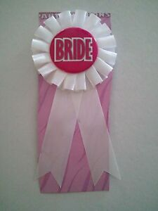 BRIDE Rosette Ribbon button Bachelorette Party / Bridal Store - Choose Qty Lot