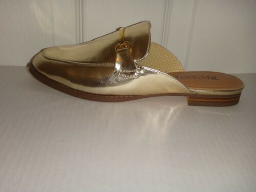 1ef56bc98 2 of 5 RESTRICTED Women's Flat Shoes Flats Mules Gold Faux Leather US Size  7, 7.5 ,8.5