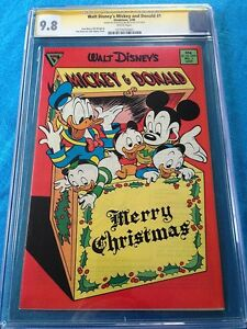 Walt-Disney-039-s-Mickey-and-Donald-1-Gladstone-CGC-SS-9-8-Signed-by-Don-Rosa
