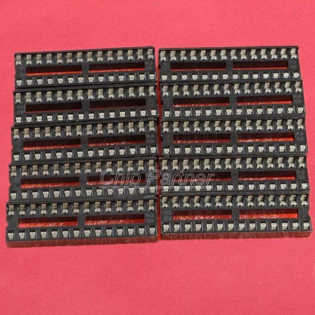 10PCS 28 pins narrow DIP IC Sockets Adaptor Solder Type Socket