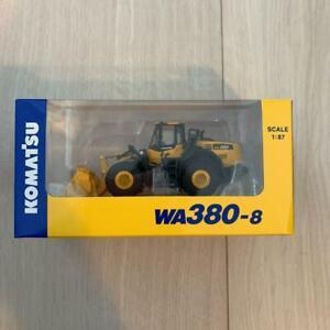 Komatsu-Official-Diecast-Model-Wheel-Loader-WA380-8-1-87-Japan-limited