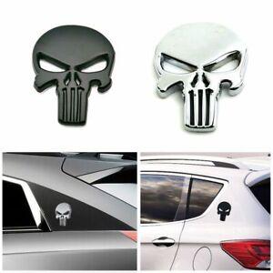 Motocicleta-Devil-Skull-Metal-Decal-Etiqueta-engomada-del-coche-3D-Placa