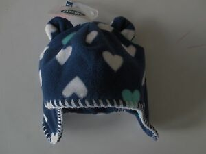 NEW Boy Girl Infant 0-6 months OLD NAVY Fleece Blue White Bear Ears ... e64891168d2a