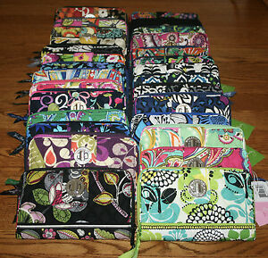 NWT-Vera-Bradley-TURN-LOCK-WALLET-organizer-zip-around-amp-turnlock-closure-clutch