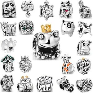 Fashion-Brand-Animals-Silver-Charms-Special-Bead-Fit-3mm-European-925-Bracelets