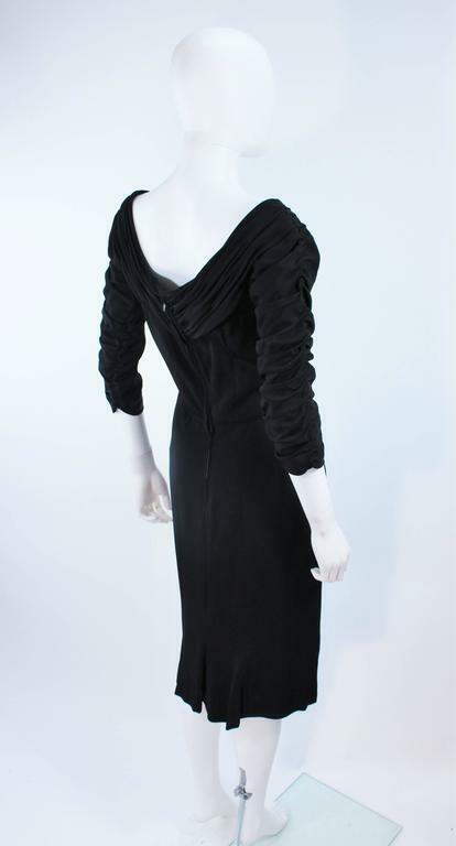 CEIL CHAPMAN Black Gathered Cocktail Dress Size 4… - image 8