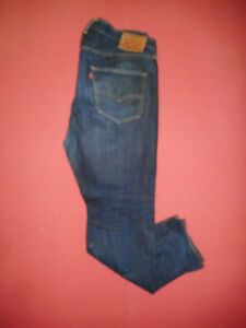 Levi Strauss 501 CT Leder Patch Herren Blau Denim Jeans W38 L32 X118