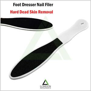 White-Pedicure-Rasp-File-Chiropody-Podiatry-Foot-Dresser-File-Hard-Skin-Remover