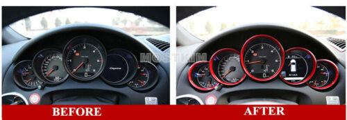 Red Interior Front Dashboard Edge Trim Cover 5pcs For Porsche Cayenne 2011-2017
