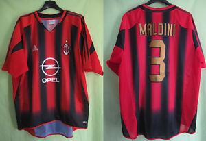 Dettagli su Maillot Milan Ac 2004 Maldini #3 Opel Adidas Vintage Oldschool Jersey L