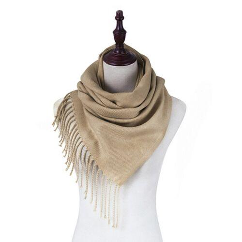 Women Lady Winter Warm Scarf Cashmere Long Wrap Shawl Plaid Knit Scarf Pashmina