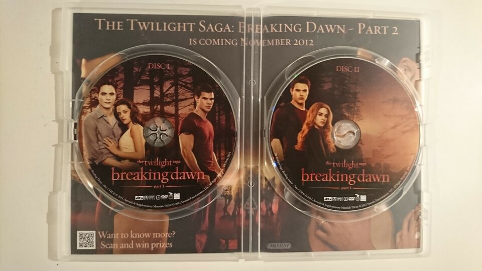 The Twilight Saga - Breaking Dawn - Part 1, DVD, drama