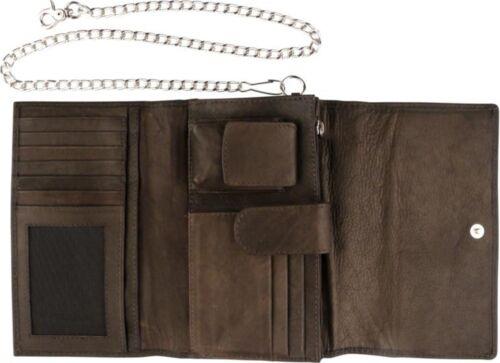 Kette 60 cm 17 x 10 x 5 Zippo Geldbeutel Leder Mocca Zippo-Feuerzeugfach