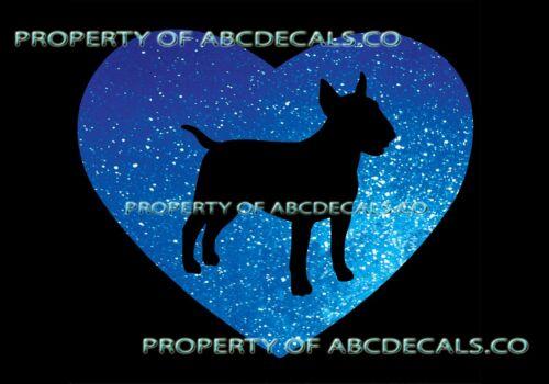 VRS HEART Love Dog Bull Terrier Puppy Rescue Adoption CAR DECAL METAL STICKER