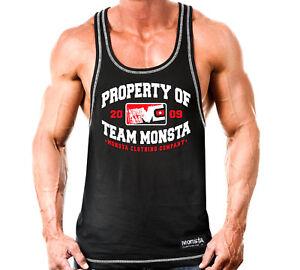 New-Men-039-s-Monsta-Clothing-Fitness-Gym-Racerback-Property-of-Team-Monsta