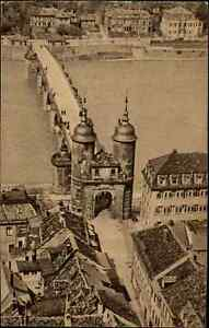 HEIDELBERG-alter-Heimatbeleg-Postkarten-Format-1940-Luftaufnahme-Neckar-Bruecke