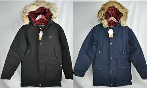 NEW-WOOLRICH-ARCTIC-PARKA-MENS-BLACK-NAVY-550-FILL-DOWN-BLEND-JACKET-AUTHENTIC