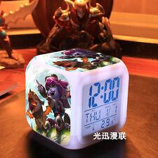 Tristana League Of Legends Student Seven Color Discolor Digital Alarm Clock Gift