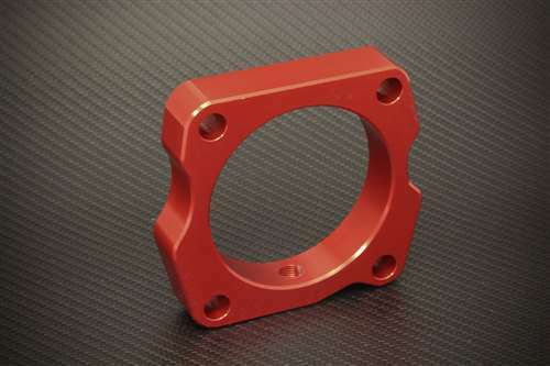 TORQUE SOLUTION TB THROTTLE BODY SPACER RED ACURA TL 2004-2007