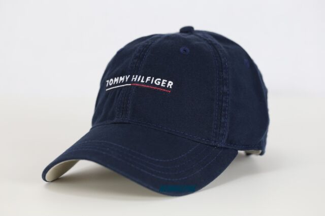 b781c22f36f Tommy Hilfiger Mens Navy Baseball Cap Hat Tommy Logo in The Fron With Tag
