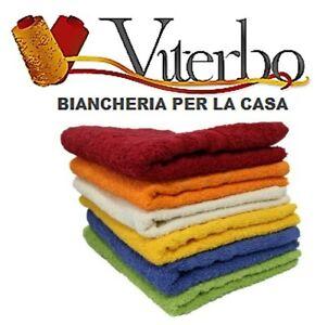 Set Asciugamani Da Bagno In Spugna 6 Pezzi Ospite Cotone 100% Tinta Unita Ring