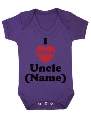 I love oncle personnalisé unisexe bébé gilet