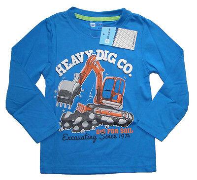 Trecker Langarmshirt Jungen langarm Shirt Traktor Kinder Bauer Bub Junge Kind