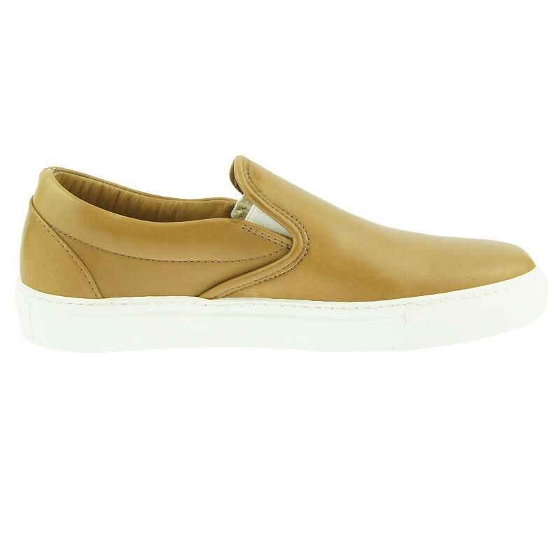 Daniele Lepori Slip-on Slip-on Slip-on Leather scarpe da ginnastica, Uomo Casual scarpe, Made in , Tan 061141