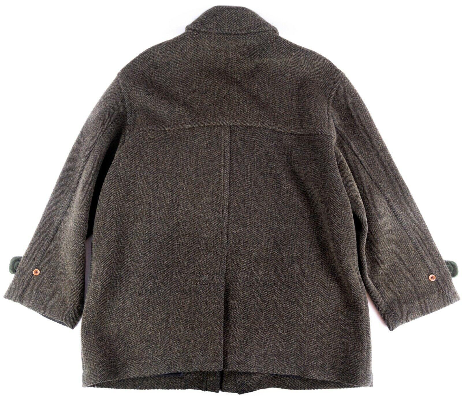 DAF David Fahner Brown Knit 100% Wool Duffel Coat… - image 3