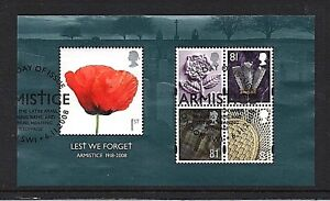 GB-Stamps-2008-034-Lest-We-Forget-034-MS2886-Fine-used