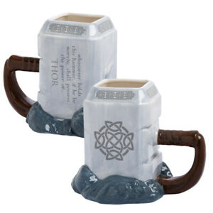 Marvel-600ml-Coffee-Mugs-Hammer-Thor-Mjolnir-Ceramic-Sculpted-Large-Capacity-Cup