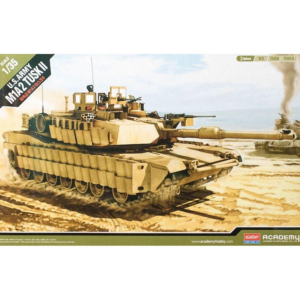 1 35 U.s. Army M1a2  tusk Ii  Academy - Tusk 135 V2 13298 Plastic Model
