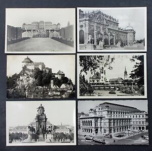 6-Postcards-Ak-Austria-Vienna-Linz-Danube-Hotel-Kufstein-at-Lot-I-5075