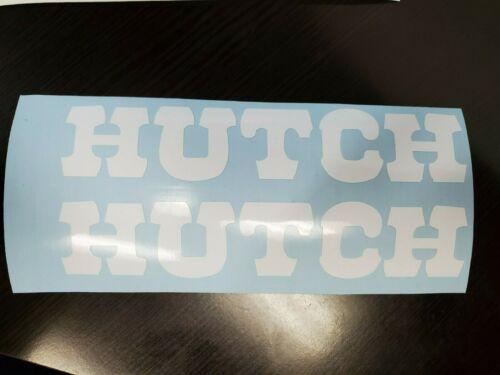 "Hutch Forks White Decal 20/"" BMX Racer expert pro Trick Star Excel Wind Styler"