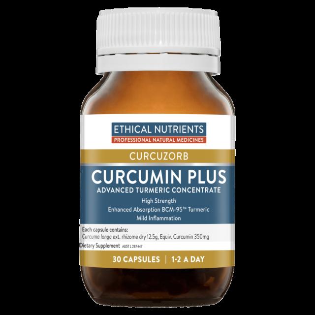 Ethical Nutrients Curcumin Plus 30 Capsules CURCUZORB BCM-95 Turmeric Arthritis