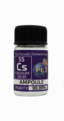 Caesium metal element 55 sample 15 mg ampoule 99,99/% labeled glass Vial Bottle