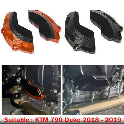 COPART Engine Guard Left and Right Side Frame Engine Stator Slider Case Cover Protector for KTM 790 Duke 790 2017 2018 2019 B, Black
