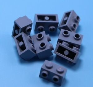 LEGO Lot of 10 Light Bluish Gray 1x2 Pin Brick Parts and Pieces