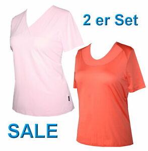 2er Set Schneider Sportswear Damen Shirt Pulli T-Shirt Stretch 2 Stück Gr. 40 -M