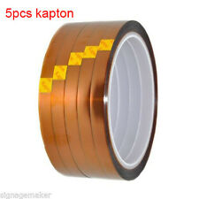 5 pcs Heat Resistance Proof Tape 3D Sublimation Kapton Tape for Heat Press Print