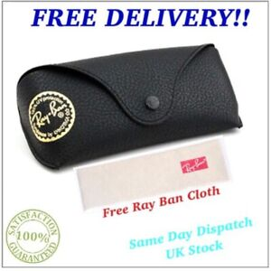 NEW-RAY-BAN-BLACK-SUNGLASSES-CASE-amp-CLOTH