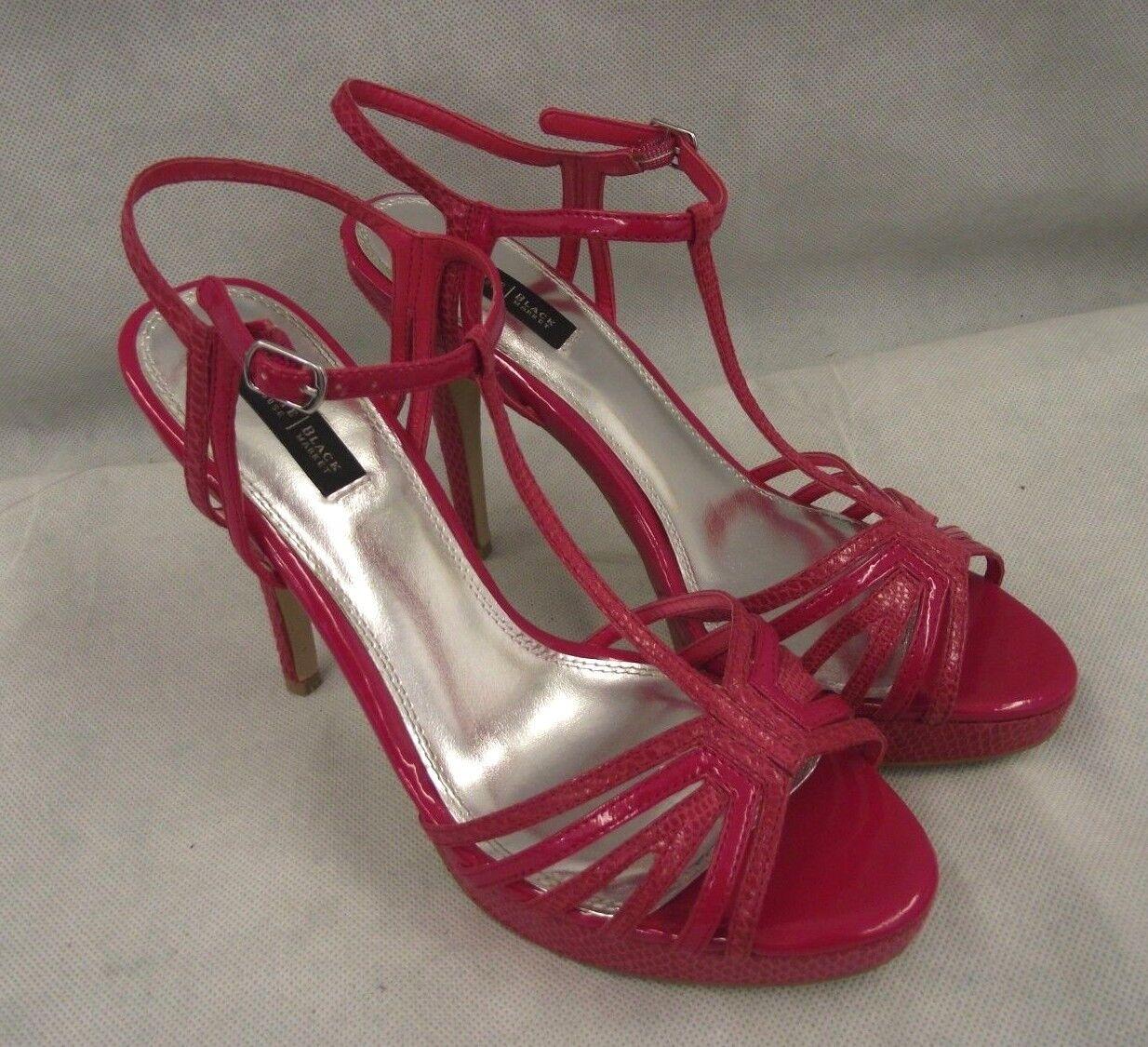 White House Black Market Sz 9M Shoes Sandals 'Genoa' High Heels Hot Pink  EUC