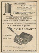 W0788 La tondeuse à gazon QUALCAST - A. V. MAYER - Pubblicità 1928 - Advertising